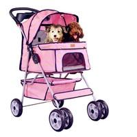2016 Transportin Perro Bestpet Quatre Roue Pet Poussette, pour Chat, chien Et Plus, pliable Transporteur Se Promener Panier, multiples Couleurs