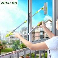 Горячий обновленная телескопическая высокой посадкой окно для очистки стекла чище щетка для мытья окна пыли домашняя щетка для чистки инст...