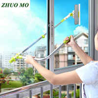 Hot Upgraded Telescopic High-rise Window Cleaning Glass Cleaner Brush For Washing Window Dust Brush Household cleaning tools