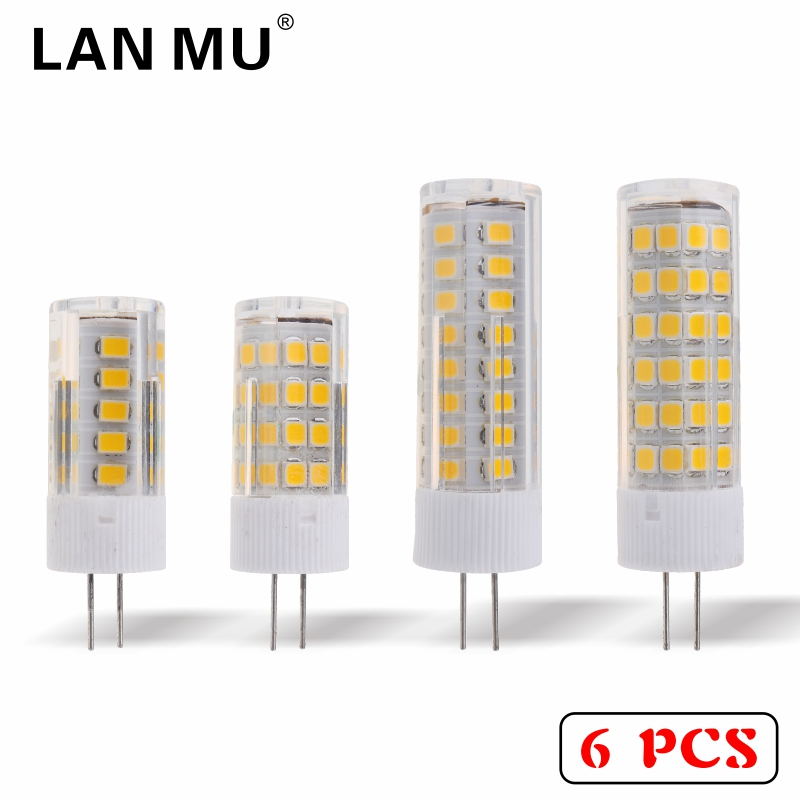 LAN MU 6PCS/LOT G4 LED Lamp Bulb AC 220V 3W 4W 5W 7W 2835SMD High Quality LED Light Bulb replace Halogen G4 for Chandelier