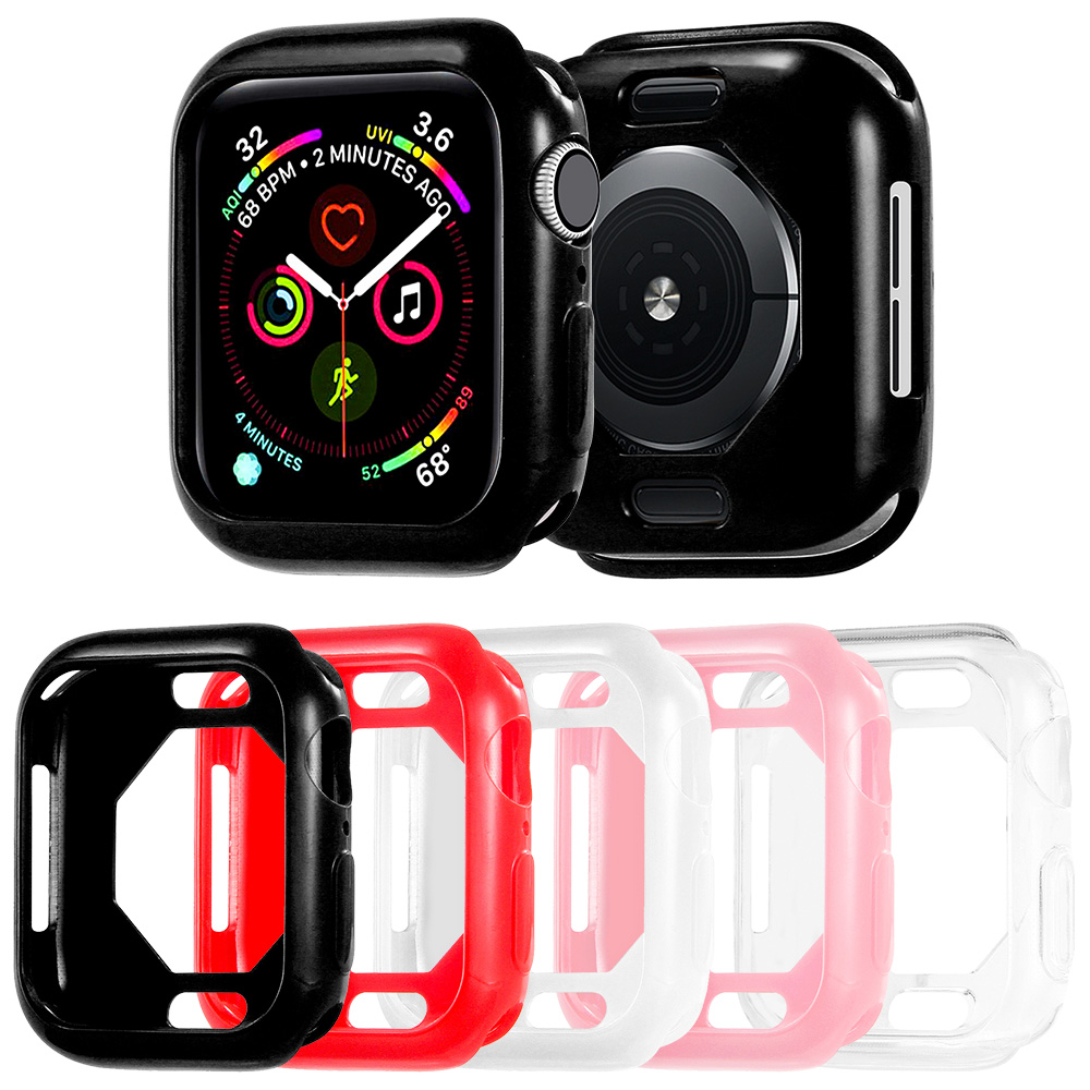 Soft TPU Protector Case for Apple Watch SE Series 6 5 4 Cover 40mm 44mm Shockproof Bumper for iWatch Shell Accessories