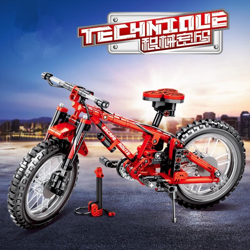 306Pcs Technic Mechanical Mountain Bike Model Building Blocks Sets Educational Toys For Children Compatible LegoINGs Bricks