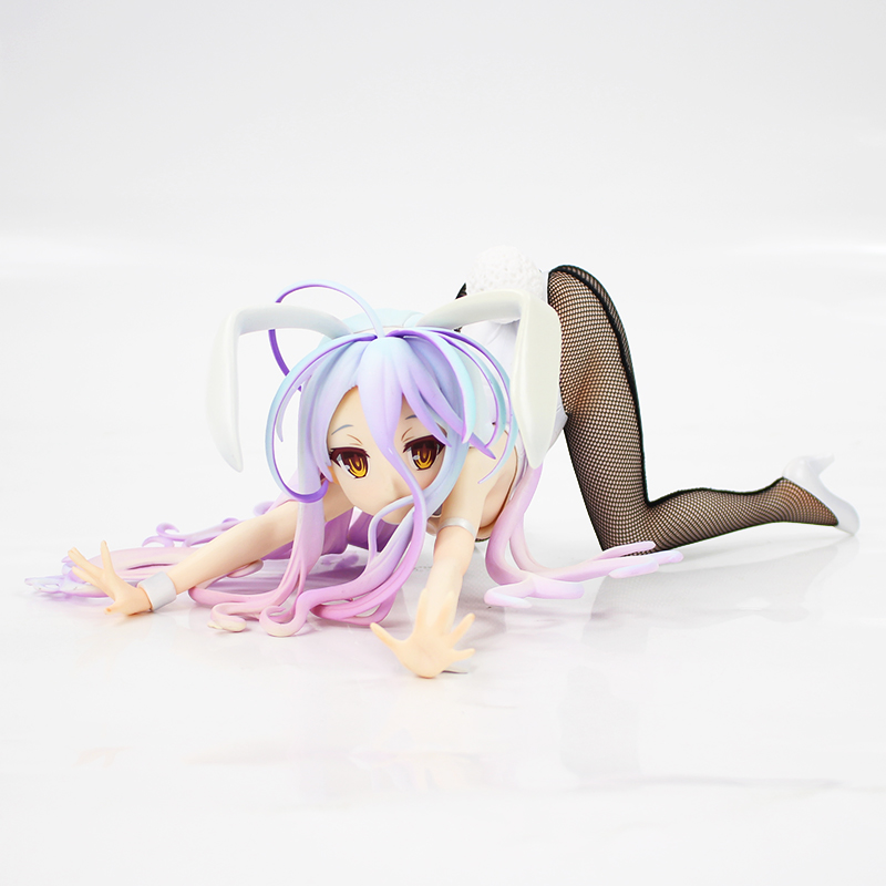 Anime <font><b>1/4</b></font> <font><b>Scale</b></font> Freeing NO GAME NO LIFE <font><b>Bunny</b></font> Ver. Shiro <font><b>Sexy</b></font> Girl Figurine PVC Action <font><b>Figure</b></font> Collection Model Doll Toy image