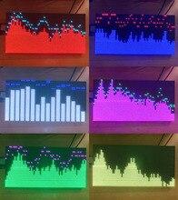 Tam renkli RGB Müzik Spektrum Ses Seviyesi Ekran Analizörü VU Metre Amplifikatör