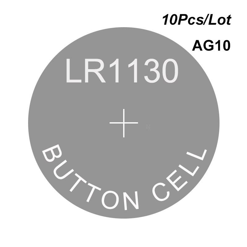 Щелочная батарея калькулятор часовые ячейки таблетка LR1130 1,5 в AG10 LR1131 LR54 SG10 SR54 SR1130 SR1131 189 387 389 1138SO