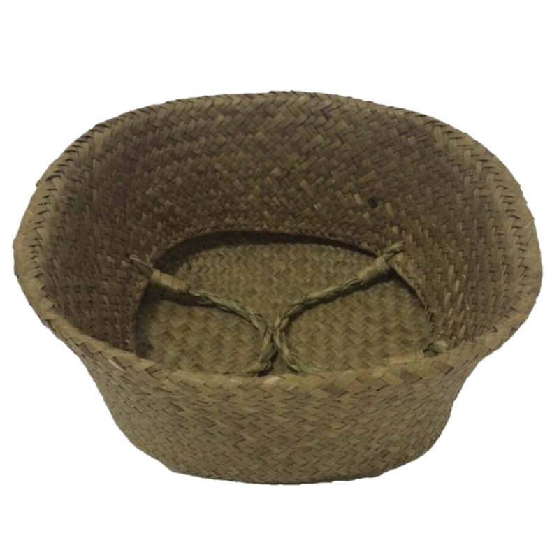 Home Garden Seagrass Wickerwork Basket Rattan Foldable Hengende - Hageforsyninger - Bilde 5