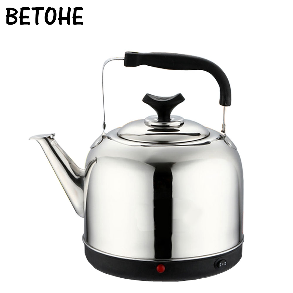 BETOHE en acier inoxydable 4L 5L 6 Lwater bouilloire cuisinière camping bouilloire cuisinière bouilloire à eau sifflante gaz théière outils de cuisson de cuisine