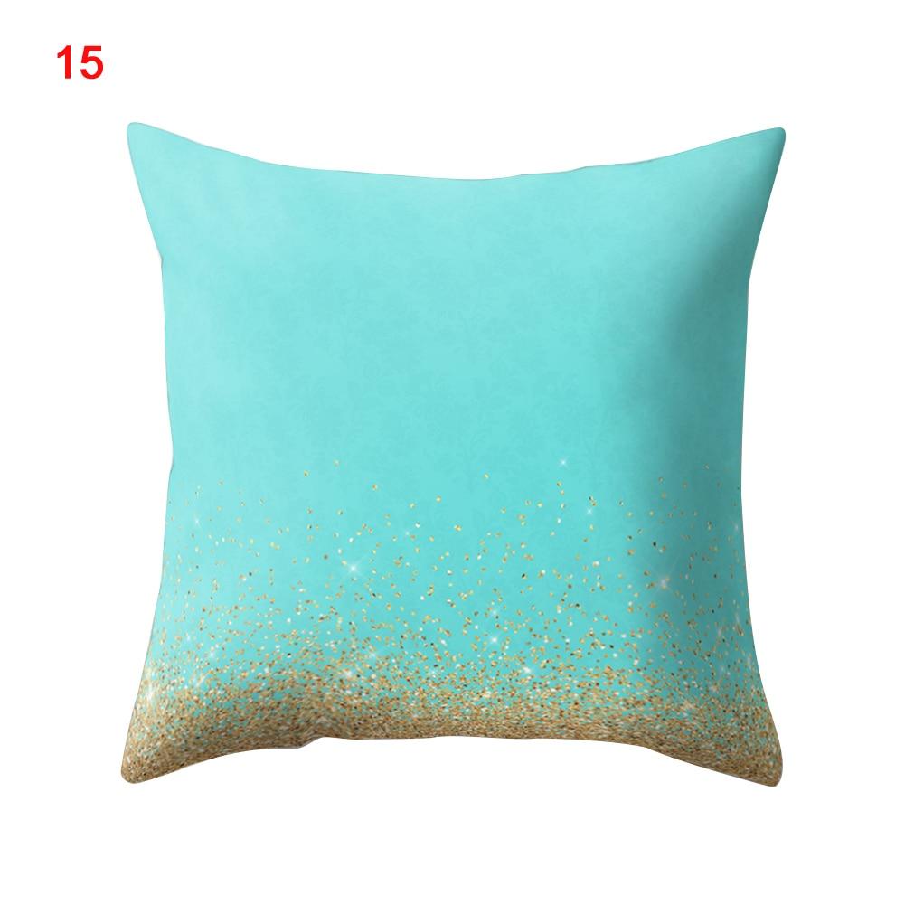 45*45cm Soft Printed Office Bedding Article Bedroom Dreamlike Square Stripe Home Starry Sky Sofa