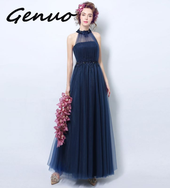 Genuo ใหม่ 2019 High   end gas field queen จัดเลี้ยง elegant และ elegant ชุด 2019 ใหม่แฟชั่นสุภาพสตรี slim dress 3207-ใน ชุดเดรส จาก เสื้อผ้าสตรี บน   2