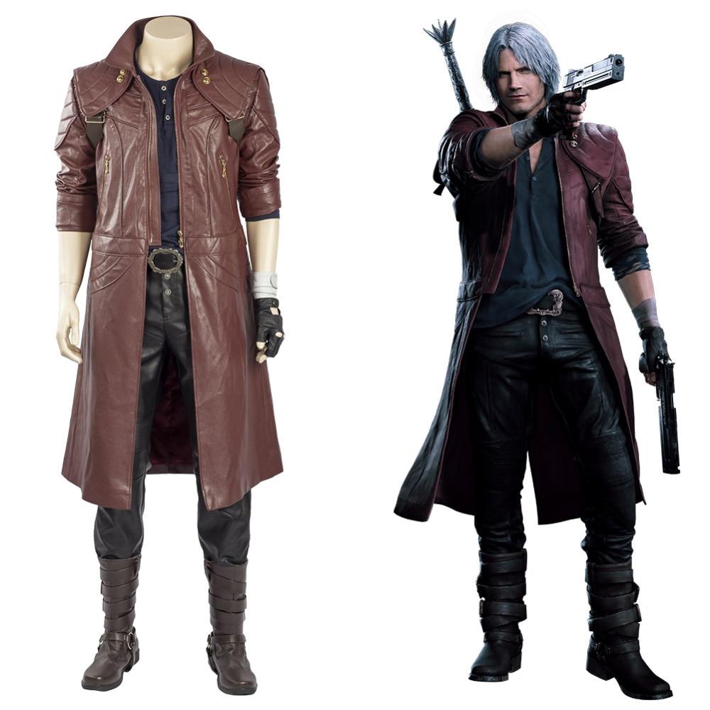 Devil May Cry DMC 3 Vergil Cosplay Costume Jacket Coat Cosplay Dante Suit Cool