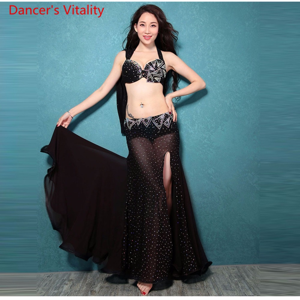2018 Women 3 Colors Belly Dance Dancing Bra+skirt 2pcs Belly Dance Costumes Professional Women Belly Dance Costumes