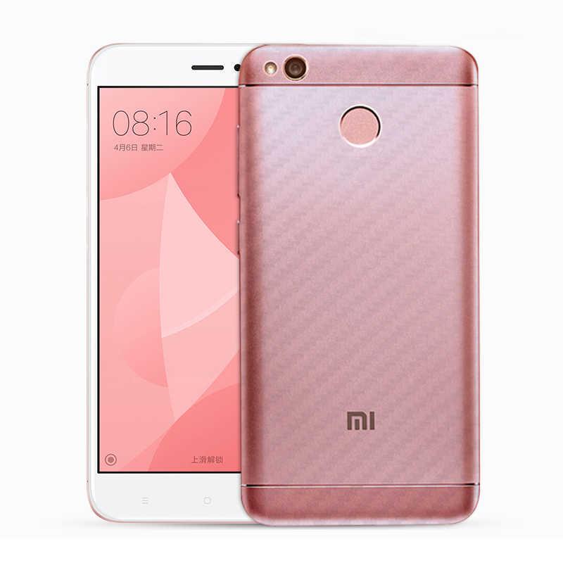 Đối với Xiaomi redmi 3 s 4 4a 4x 5a pro note 4 3 2 4x cover Quay Lại Protector 3D Carbon Fiber Rear Bảo Vệ Phim không trượt Phụ Kiện