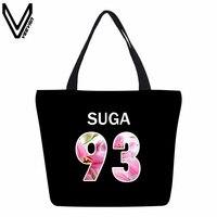 VEEVANV Korea Kpop Bangtan Boys Canvas Shopping Bags Women Fashion Handbags BTS Young Forever Portable Travel