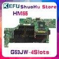 KEFU для ASUS G53JW G53J G53 HM55  4 слота  материнская плата для ноутбука  протестированная 100% оригинальная материнская плата