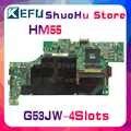 KEFU dla ASUS G53JW G53J G53 HM55 4 sloty laptop motherboard testowany 100% pracy oryginalna płyta główna