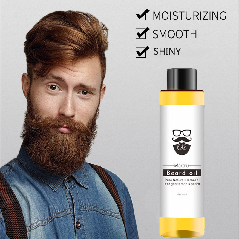 1 Pcs 30ml Mokeru 100% Organic Beard Oil Hair Loss Products Spray Beard Growth Oil For Growth Men Beard Grow Pro Styling TSLM1