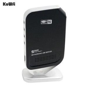 Image 2 - 4 Ports Points daccès réseau Fax réseau USB serveur dimpression Stable haute vitesse pour Windows 2000 XP Vista 7 PC USB 2.0 serveur