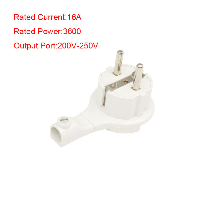 EU Standard 16A 3600W 200V-250V AC Power Two Hole Converter Plug Socket Adapter Backup Latest White Power Socket Accessories ac 200v 250v 16a ip44 2p e 3 terminal female industrial caravan panel socket
