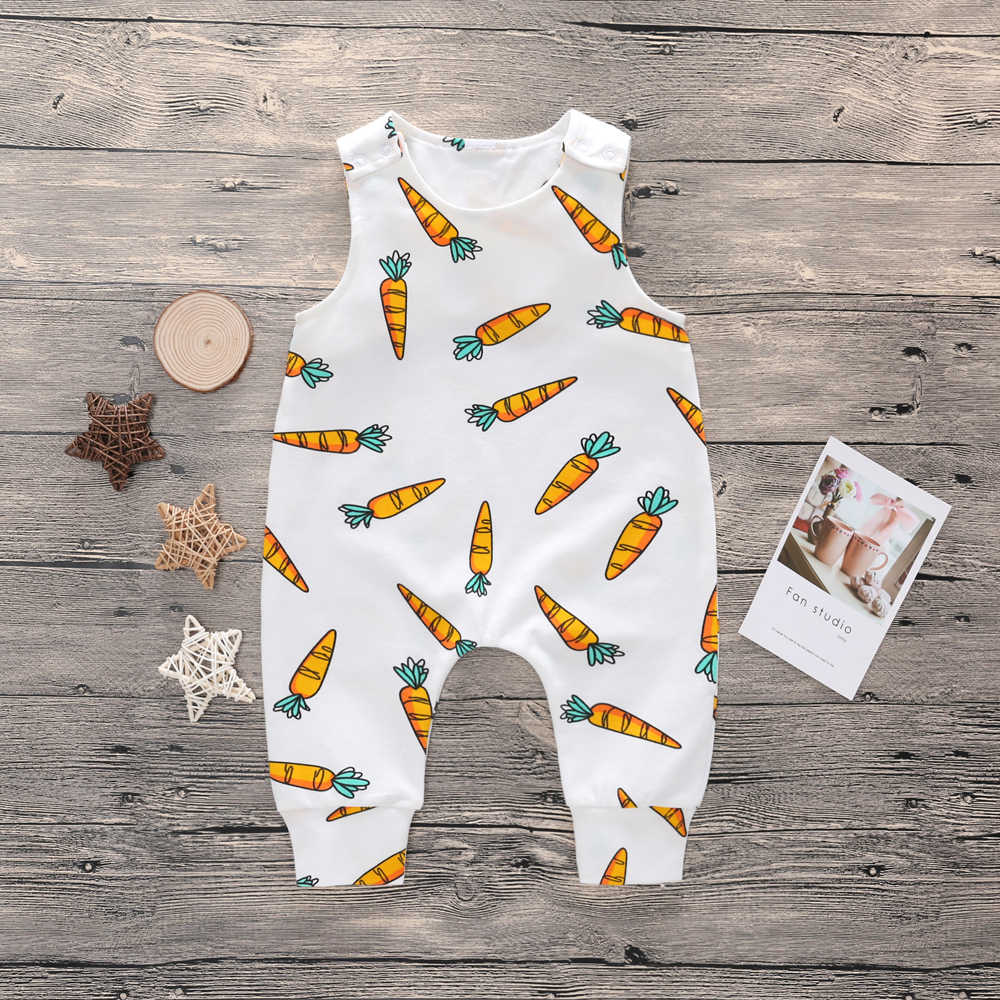 Комбинезон для новорожденных девочек от 0 до 24 месяцев хлопковый комбинезон для маленьких мальчиков летний детский костюм без рукавов Солнечная детская одежда