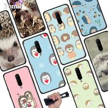 Hedgehog cute Black Soft Case for Oneplus 7 Pro 7 6T 6 Silicone TPU Phone Cases Cover Coque Shell