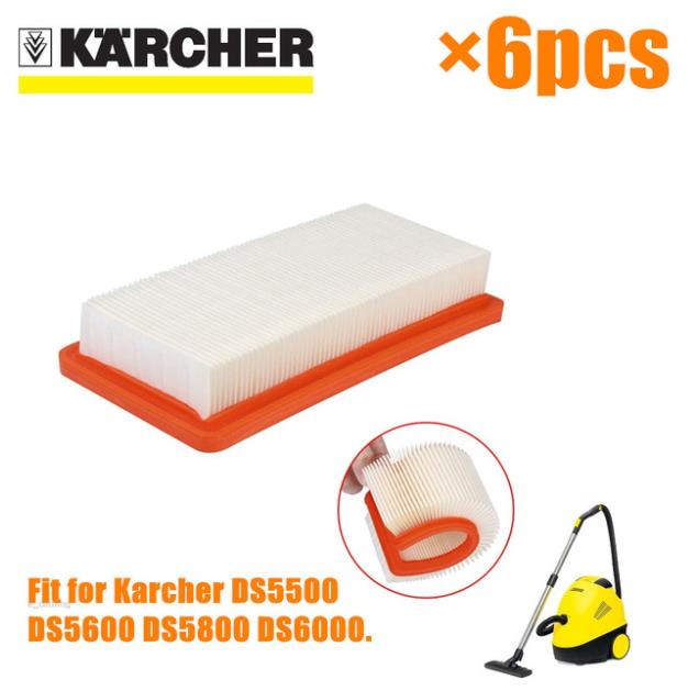 China post 6 Pcs/lot Air HEPA Filters For Karcher 6.414-631.0 DS series DS5500 DS5600 DS56000 DS5800 DS6000 Parts Replacement china post 6 pcs lot air hepa filters for karcher 6 414 631 0 ds series ds5500 ds5600 ds56000 ds5800 ds6000 parts replacement