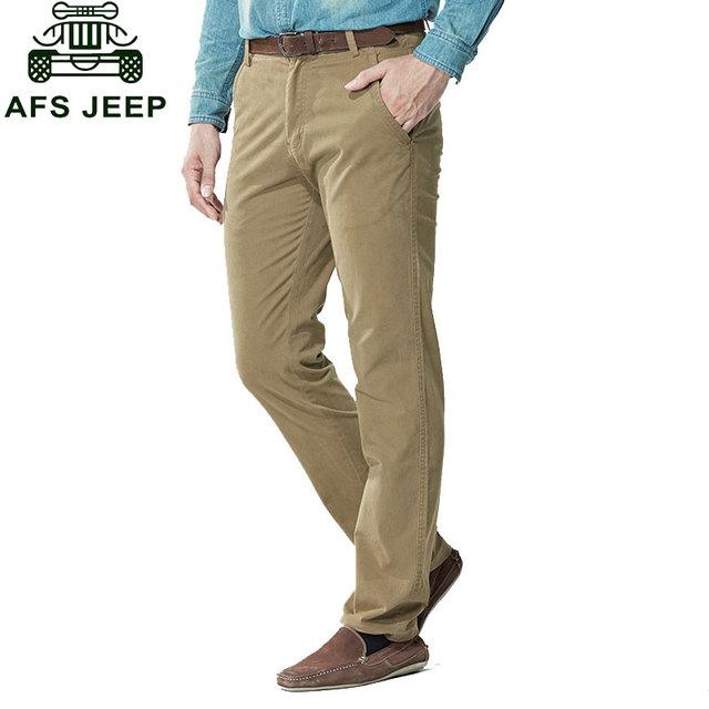 30 ~ 44 2017 Nueva Otoño Para Hombre Tallas grandes Espesar Pantalones Papá Pantalones de Algodón Casual Pantalones de Hombre Recto Formal de Carga Pantalones del ejército