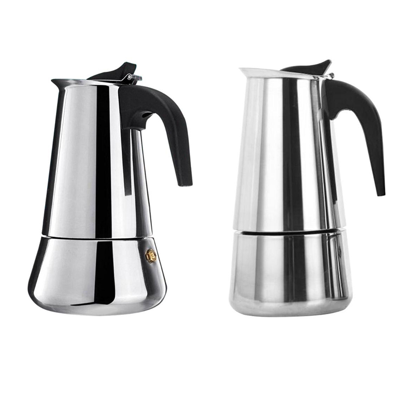 Big Belly Stove Top Mocha Pot Moka Stainless Steel Coffee Maker Percolator Tool