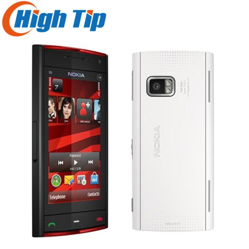 Free Shipping Original Unlocked Nokia X6 Cell Phone Refurbished 3 2 Touchscreen 3G GPS WIFI 5MP