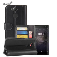 KLAIDO Genuine Cow Leather Mobile Phone Case For Sony Xperia XA2 Phone Case For Xperia XA