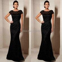 Abendkleid spitze schwarz farbe 2016 spitze formale partei prom dresses bodenlangen robe de soiree