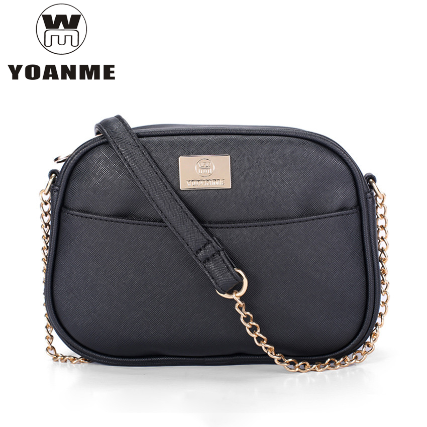 US $11.47 50% OFF|2019 designer new crossbody bags for women summer small black bag leather sac bandouliere femme chain shoulder bag high