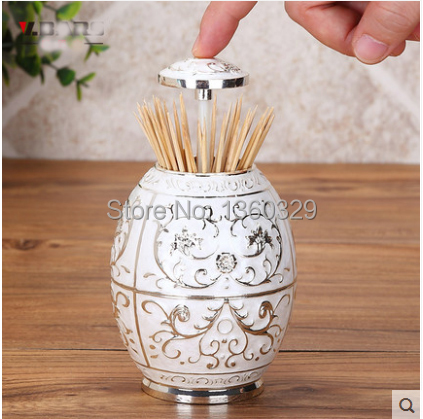 Christmas Gifts Metal Craft Automatic Toothpick Holder Dispenser Box Novelty Gift Nordic Creative Style Designer Free Shipping