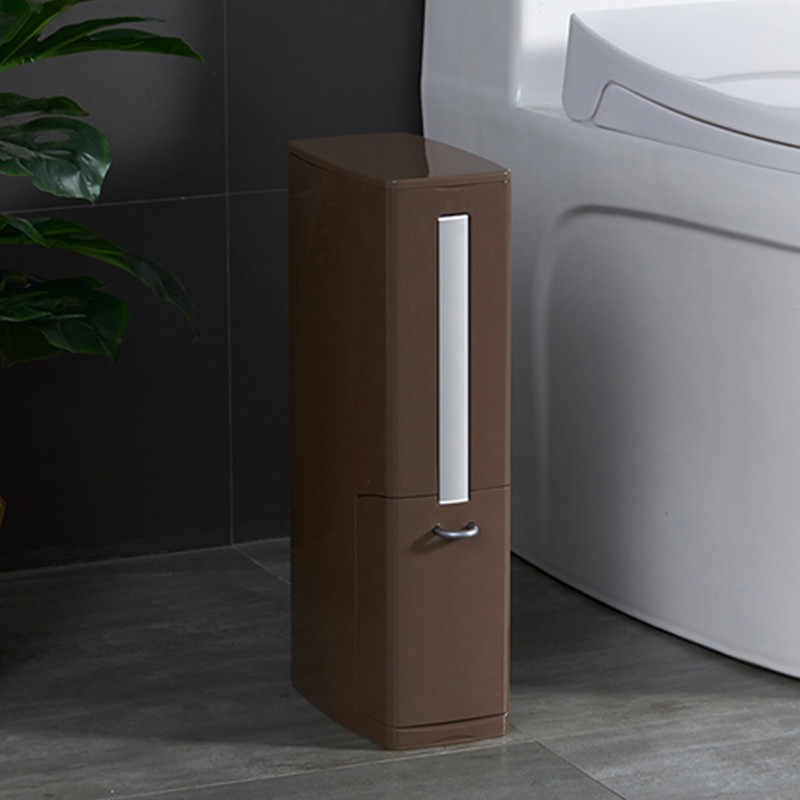 Multifuncional Conjunto Com Escova de Vaso Sanitário Do Banheiro Armários de Banheiro de Plástico Lata de lixo Lixo Lixo Lixo Latas de Lixo Balde Saco