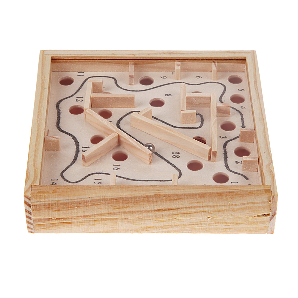 Wooden Math Toy Grasp Baby Maze Beads Board Child Early Educational Toy Kids Balance Brain Teaser Intelligence Development Toy