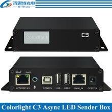 Apoio Max 655360 pixels C3 Display LED Jogador Colorlight Assíncrona LEVOU caixa de remetente