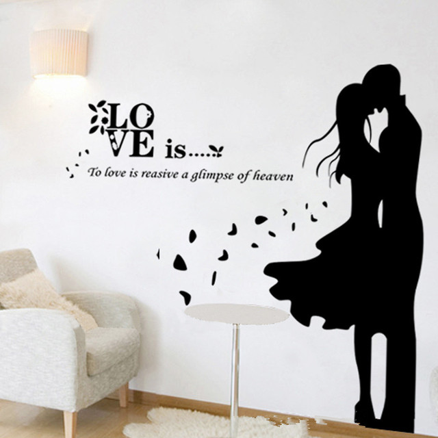 Love eternal vinyl wall decal home decor lettering english letters wallpaper family and life quote
