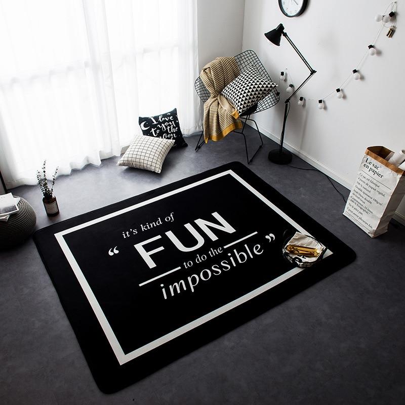Новый декор в скандинавском стиле фланелевый бархат олень узор большая гостиная пол ребенок для ползания и игр коврики ковры стол ковры - 2