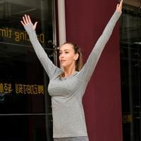 New Yoga Elastic Gym Shirts Women Fitness Clothing Sport Suit For Female Exercise Pilates Professional Running