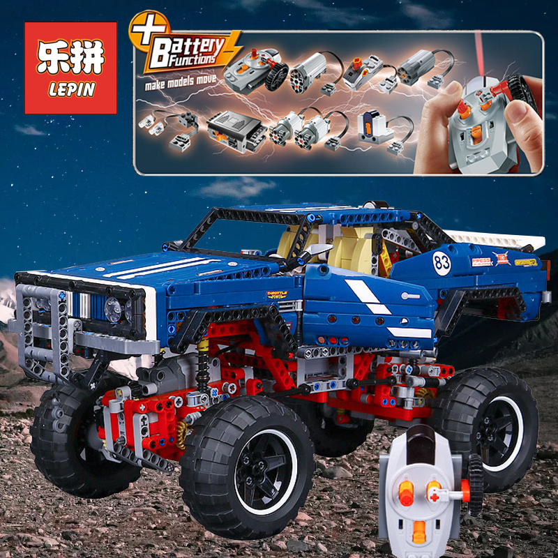 Lepin 20011 Technic Car Remote Control RC Rally Climbing Electric off-road Vehicles 4x4 Building Blocks Toys compatible 41999 lepin 20011 1605 pcs super classic limited edition of off road vehicles model building blocks bricks compatible toy 41999