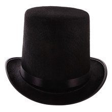 New Polyester Felt Magician Black Hat Halloween Hat Jazz Hat for Custume Wedding Carnival Day Party DIY Decor Favor Gift Access(China)
