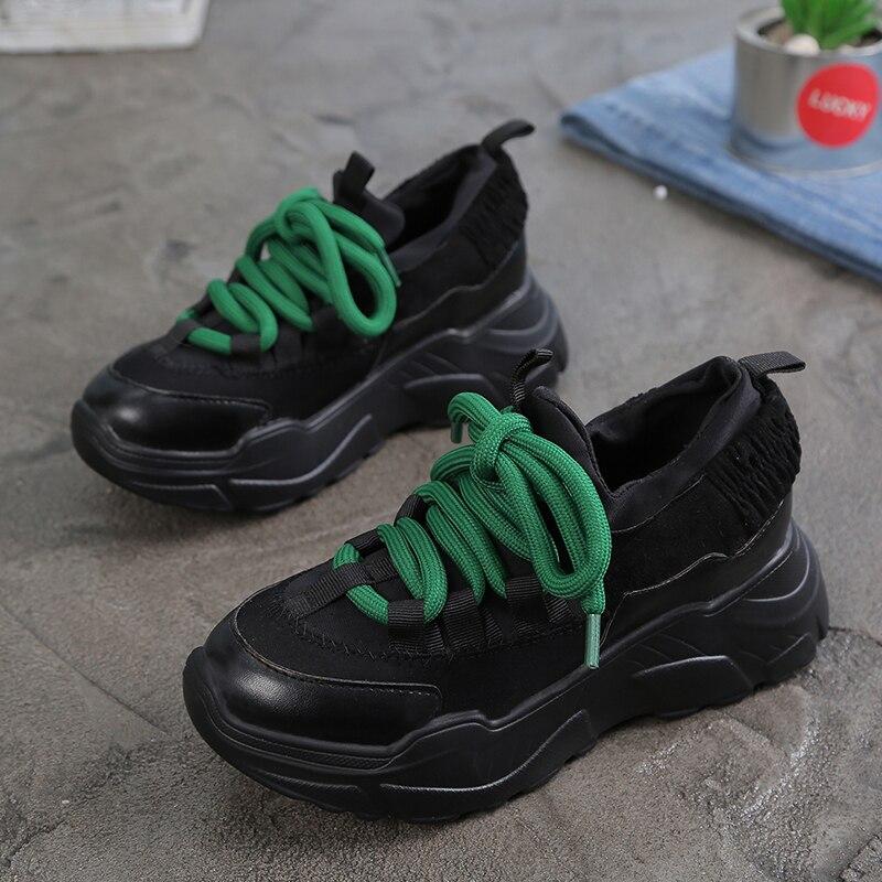 BomKinta primavera otoño Beige vulcanizados zapatos mujer altura aumento Casual  zapatillas mujer ocio grueso inferior chicas cuñas en Zapatos de mujer de  ... cf672cd7e521