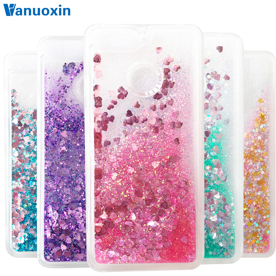 Fundas on for Huawei <font><b>Honor</b></font> <font><b>7A</b></font> Pro <font><b>case</b></font> sFor Huawei Honor7A 7 A 7Apro Y6 2018 prime cover Glitter Liquid <font><b>Silicone</b></font> Soft Phone <font><b>case</b></font> image