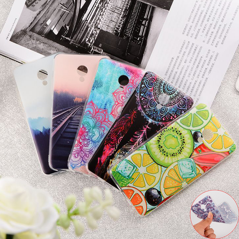GerTong Fruit Flowers Totem Railway Painting Phone Case Cover for MEIZU M5C M5S M5 Note Pro 7 plus Soft TPU Fundas Coque Housing