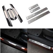 Авто-Стайлинг Аксессуары для peugeot 3008 GT автомобильный порог пластина-порожек накладка защитные пластины