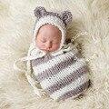 Envelopes Para A Cabine Da Foto do bebê Saco de Dormir Saco de Dormir Do Bebê Recém-nascido Malha Fotografia Props Handmade Hat Cocoon Foto Props