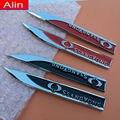 1 pair Coche Ssangyong logo Fender side Emblem Badge Sticker estilo posterior del tronco para XLV Tivolan Korando Actyon Rexton Rodius Kyron