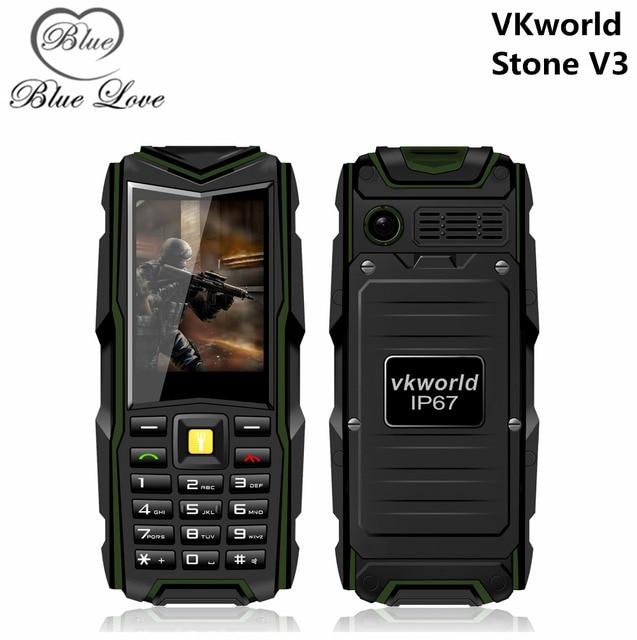 Original VKWorld piedra V3 2.4 pulgadas a prueba de agua IP67 a prueba de polvo a prueba de choques doble tarjeta Sim 5200 Mah de la batería GSM SmartPhone exterior