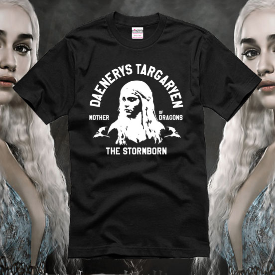 Fire and blood mother of dragon short-sleeve T-shirt of clothing clothes the song of ice and fire 100% cotton tee freeshipping