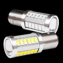 2 шт. 1157 P21/5 Вт BAY15D супер яркий 33 SMD 5630 5730 светодиодный авто тормоз светильник сзади Противотуманные огни 21/5W Автомобильные DRL Вождения LED светильник стоп лампы