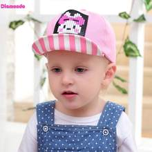 11d17c1a4a9 Spring Casual New Korean Design Baby Kids Cartoon Korean Cotton Stripe Baseball  Cap Soft Edge Hat For 0-4Y Infant Boys Girls